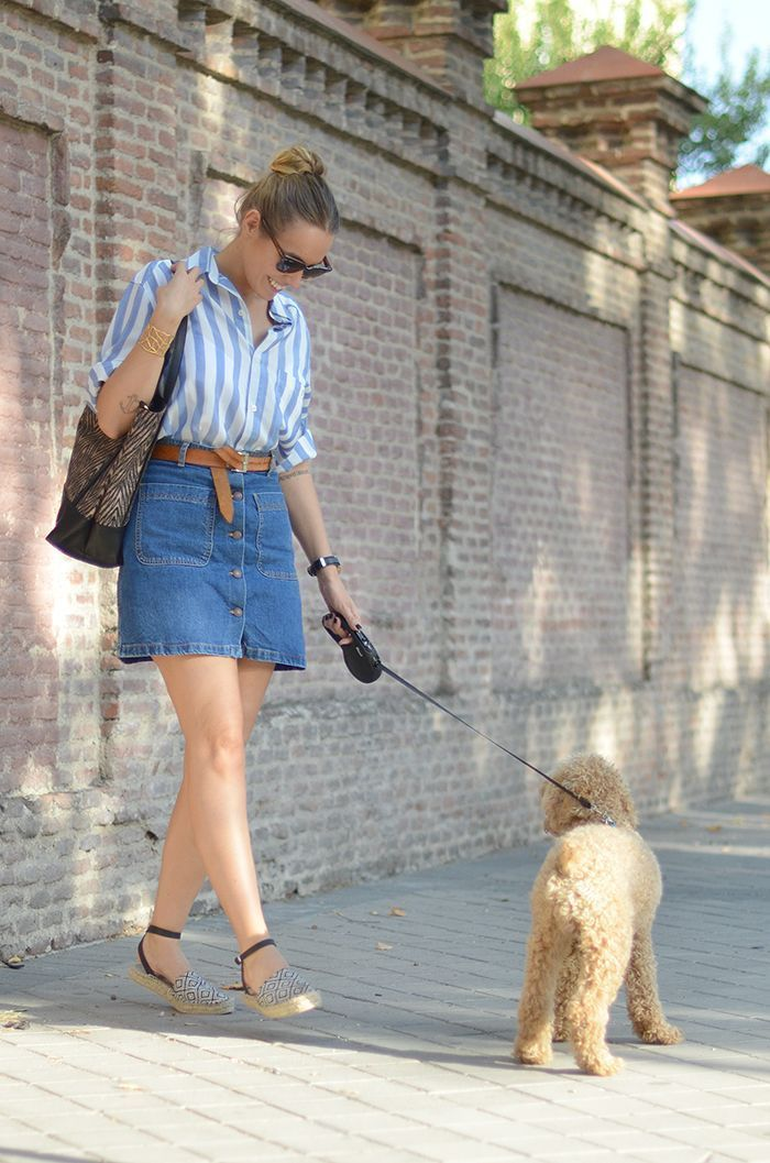 look_mini_falda_vaquera_caniche_toy_luceral